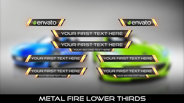 Metal Fire Lower Thirds  8 Lowerthirds | Full HD 1920×1080 | Quicktime PNG alpha codec | Each 10 seconds.  #videohive #motiongraphic #aftereffects #caption #car #fire #lowerthird #metal #modern #professional #race #shinny #show #sport #television #text #title #youtube