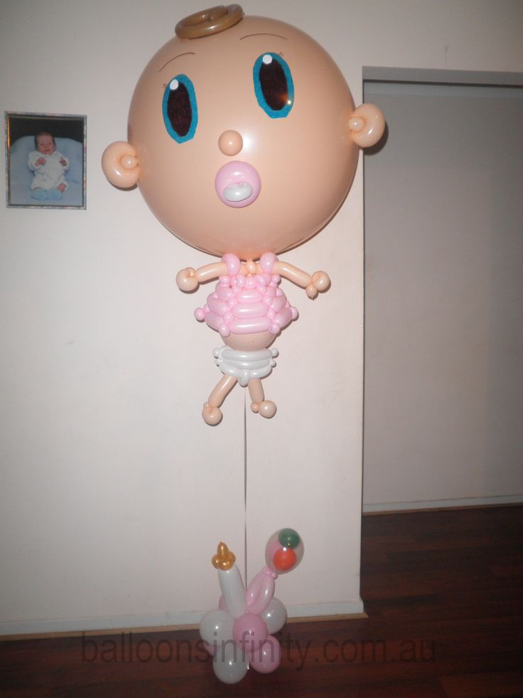 Great large helium balloon baby shower decor or gift for the new mum. #babyshowerdecor #largeheliumballoons