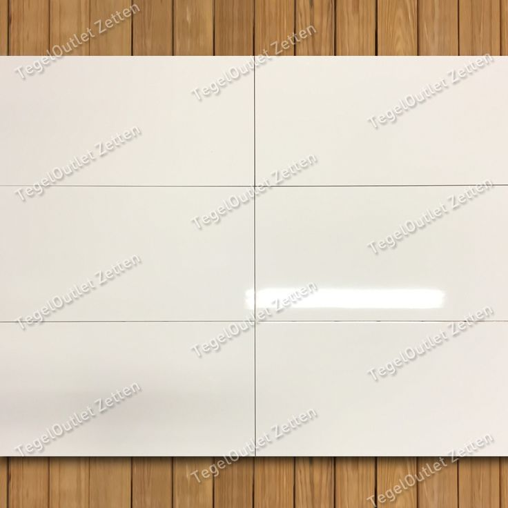 Wandtegel Glans Wit 30x60 gerectificeerd - Deze glans wit gezaagde…