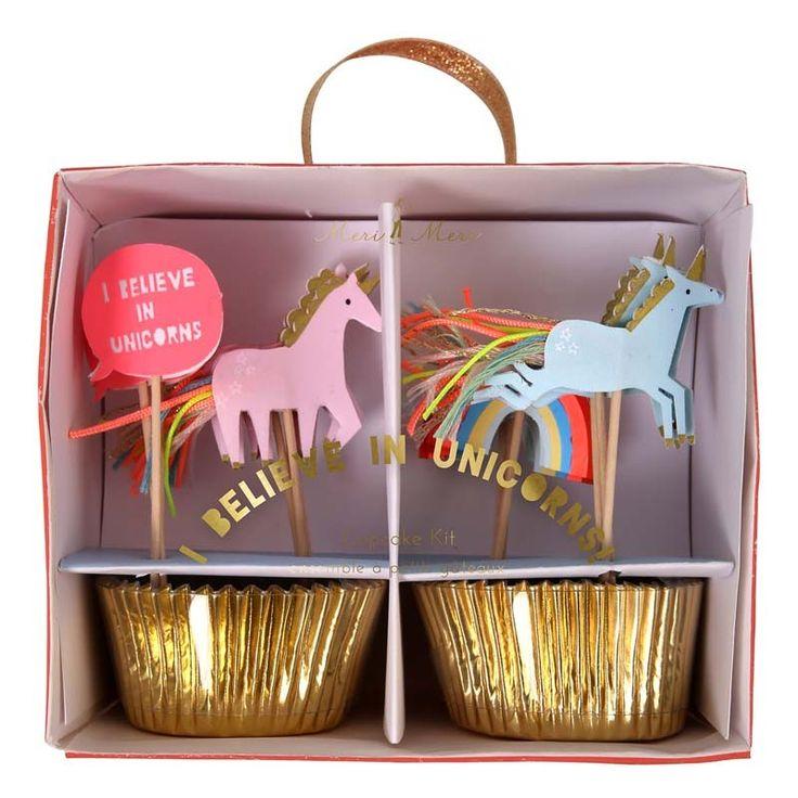 Unicorn Party Cupcake Kit : Meri Meri Partyware : The Party Cupboard Online Party Supplies Store Australia