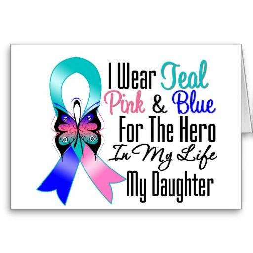 cancer hero slogans | Thyroid Cancer Ribbon Hero My Daughter Greeting Card from Zazzle.com