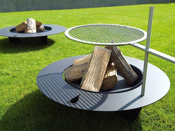 Feuerstelle Fireplate Stahl mit Thermolack, schwarz