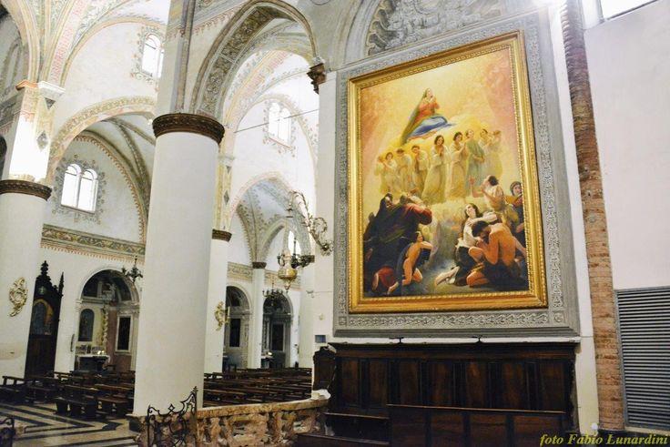 Cortemaggiore, Basilica: Francesco Scaramuzza, L'Assunzione della Vergine, dipinto conosciuto anche come La Vergine degli Angeli - Foto Fabio Lunardini