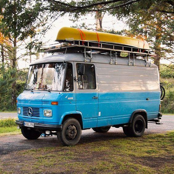 Vintage trailers mercedes camper trailer camping for Mercedes benz campervan usa