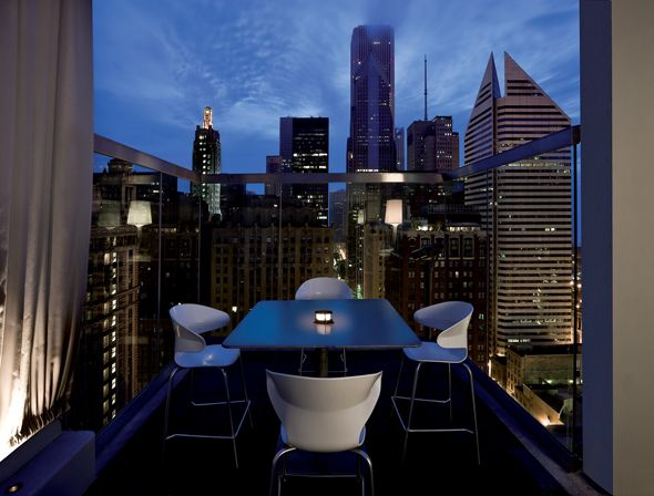 Roof On The Wit Hotel. Awesome View Of Chicago!