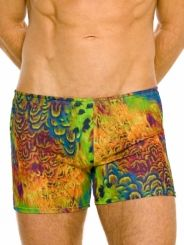 Amalfi tan through swim shorts