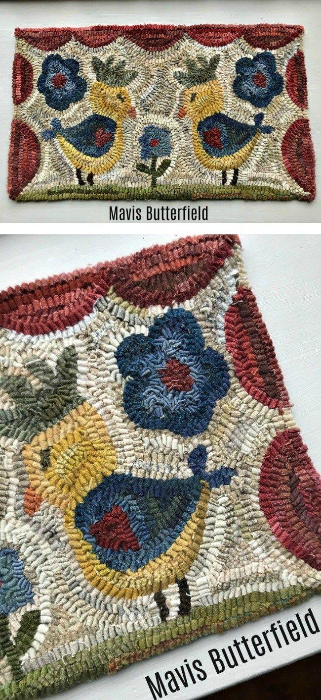 Primitive Hooked Rugs Folk Art