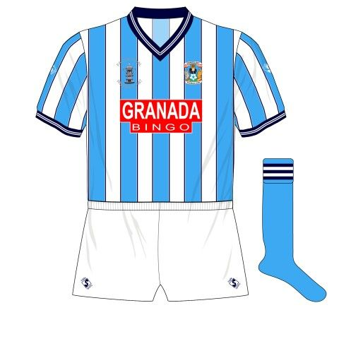 Coventry City home kit for the 1987 FA Cup Final.