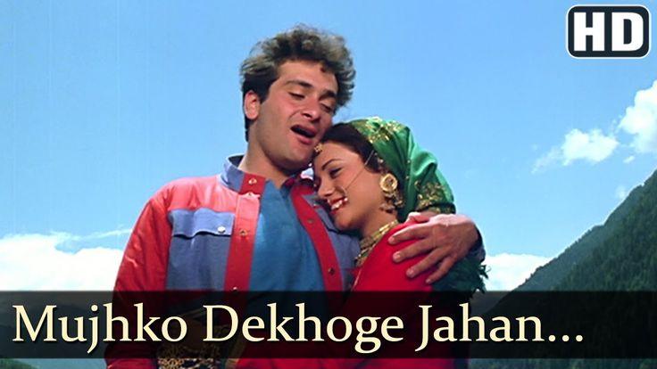 Rajiv Kapoor + Mandakini - Mujhko Dekhoge Jahan Tak - Ganga Maili