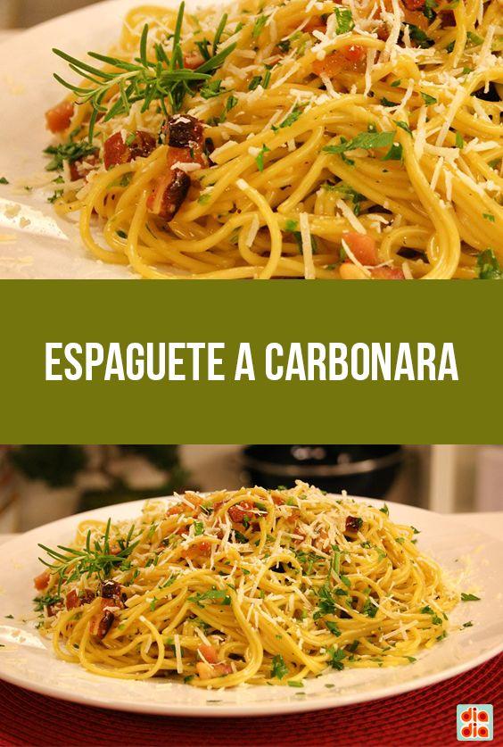 Espaguete a Carbonara
