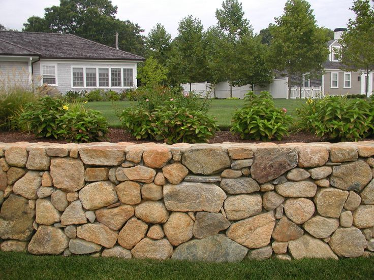 Garden Retaining Wall Ideas Design Adorable Best 25 Stone Wall Gardens Ideas On Pinterest  Stone Retaining . Inspiration