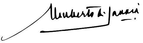 Umberto II of Italy's signature