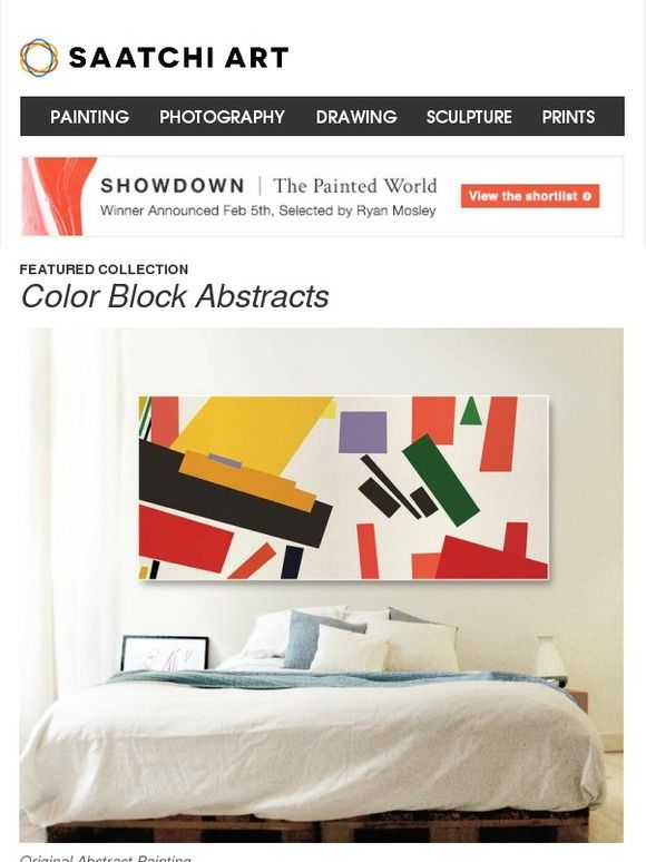 New Abstracts Focus On Color Blocking