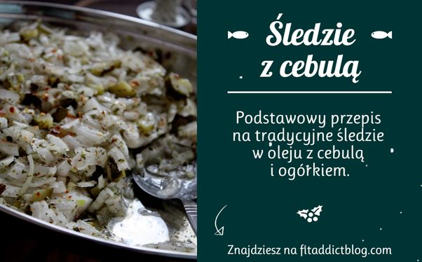 Traditional Polish herring with onion and oil.