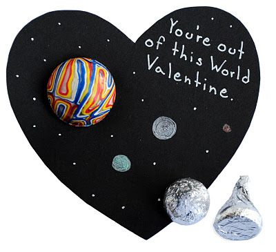 Space Valentine's Day Card