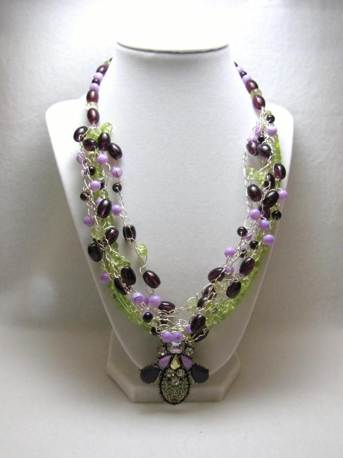 Spring Fling - Jewelry creation by Linda Foust