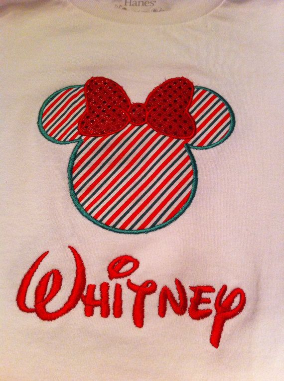 Disney Applique Christmas Shirt girls by JamieSewCute on Etsy, $19.98...@Angel Kittiyachavalit Miklas  & @Mylasiaa Lorneaa Miklas ...I actually like this one better!