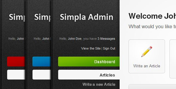 Simpla Admin - Flexible & User Friendly Admin skin