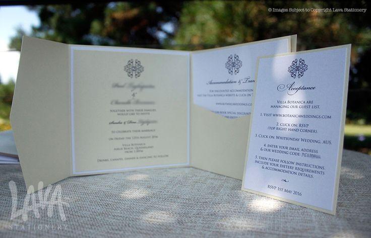 Adorn #pocketinvitation by www.lavastationery.com.au