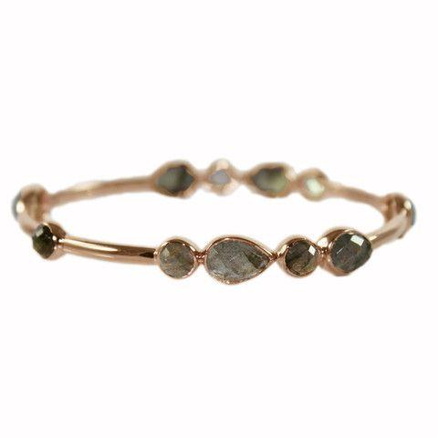 LABRADORITE & GOLD BANGLE | Buy So Pretty Jewelry online