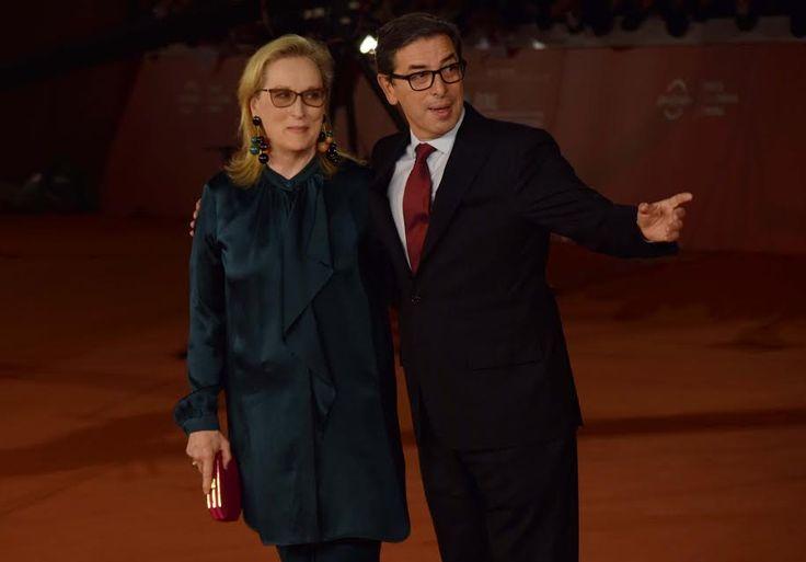 Meryl Streep Regina della Festa del Cinema di Roma, il Red Carpet si illumina di luce, donna di carisma, professionalità, di una bellezza regale...