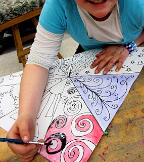 watercolor--Picasso Peace Doves
