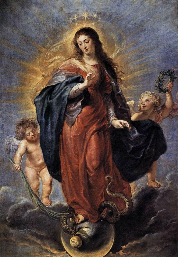 Quadro da Imaculada Conceição de Maria, por Peter Paul Rubens.