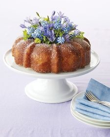 Dress up your favorite Bundt cake for Mother's Day by putting a beautiful spring bouquet in the center.