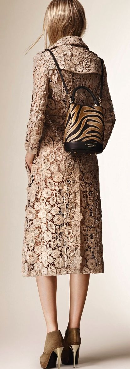 burberry 2016 lace coat. women fashion outfit clothing stylish apparel @roressclothes closet ideas
