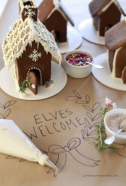Gingerbread house decorating party ideas  Gingerbread house recipe