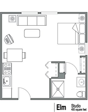 Apartment floor plans retirement and washington on pinterest 250 square foot apartment floor plan