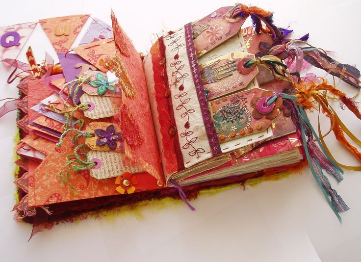 Textile Tag Book Journal made by Jill Amanda Kennedy