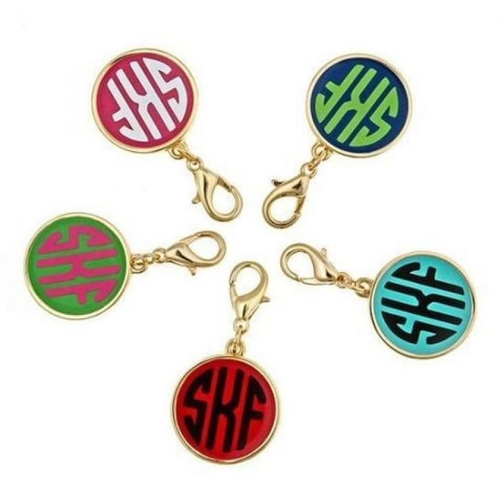 Modern Monogram Charm - Charms - Jewelry - $28 - I want one monogrammed with ABA instead of my initials!