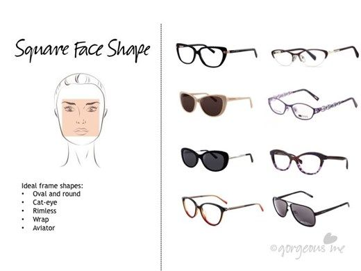 Best Eyeglass Frame Shape For Square Face : 17 Best ideas about Square Faces on Pinterest Make up ...