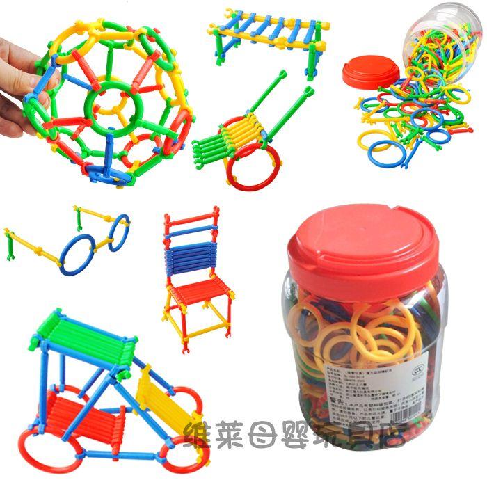 Детский сад игрушки в бутылках смарт-палки ре сборки строительные блоки игрушки бесплатно преобразовать для 3 - 7 дети подарок