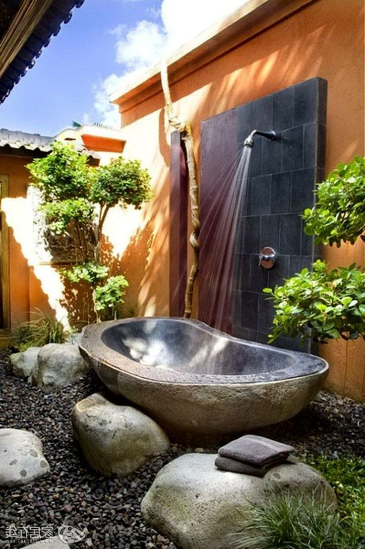 82 best images about outdoor showers on pinterest for Exterieur nature