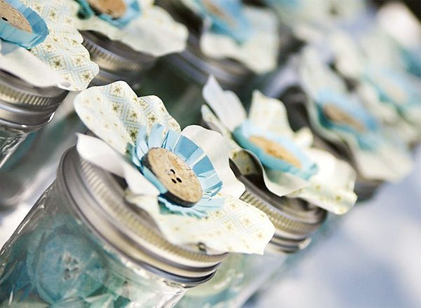 Cute as a button baby shower favors...button candies inside :)