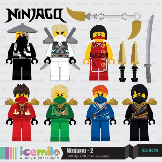ninjago 2 digital clipart by icemiloclipart on etsy