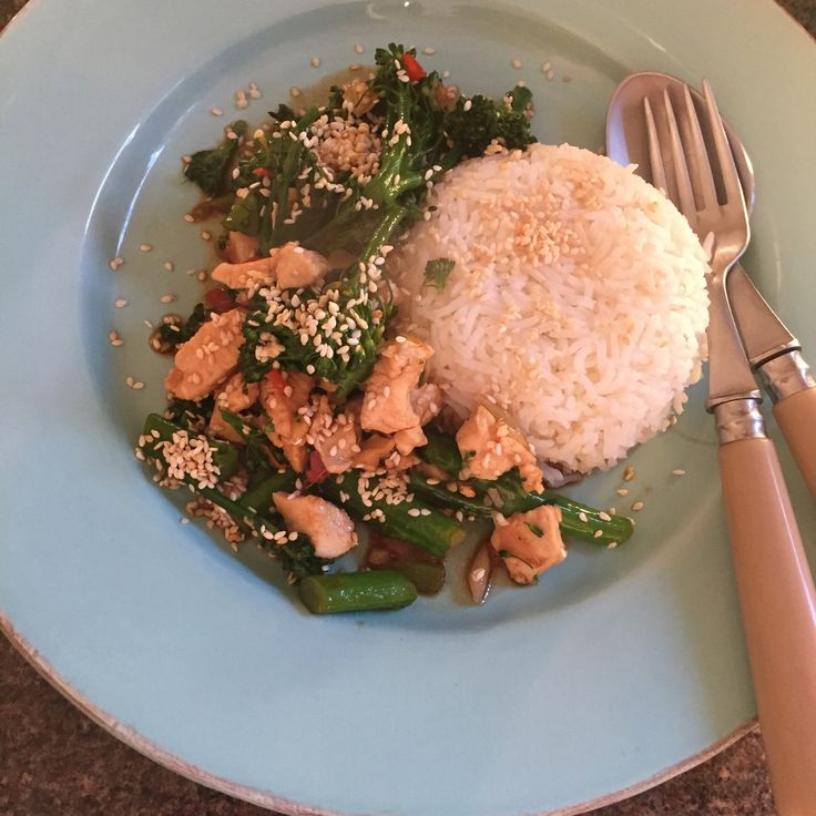 Family favourite in our house - Rachel Walder chicken and broccoli with oyster sauce