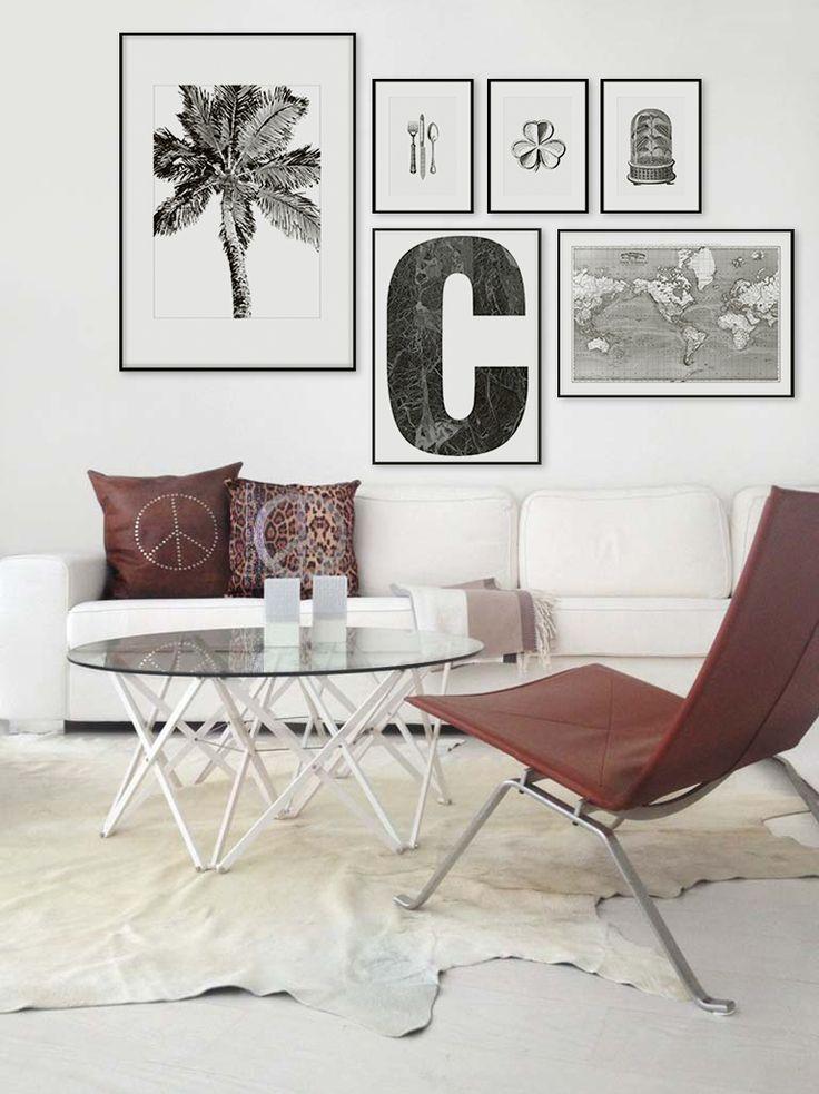 Markor C | tavla med marmor | Bokstavstavla | poster | affisch. Desenio.com