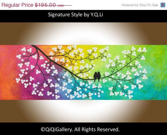 Día de San Valentín regalo arte abstracto pintura por QiQiGallery, $146,25                                                                                                                                                      Más