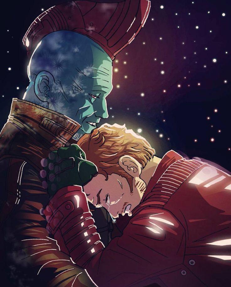 """""""Siempre seras mi muchacho"""" - Esta escena y las siguientes, rompieron mi corazon en miles de pedazos, y no se si pueda repararlo    -  Peter and Yondu - Guardianes de la galaxia vol.2 - Marvel"""