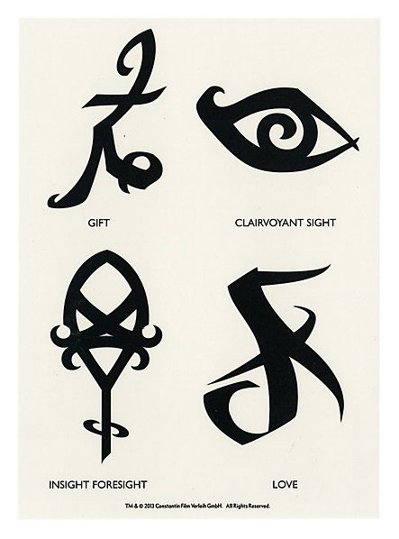 The Mortal Instruments: City Of Bones Runes Temporary Tattoos | Hot Topic