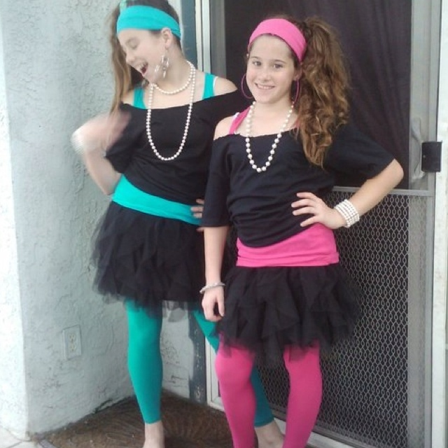 Nieces wanted an 80's inspired style. <3