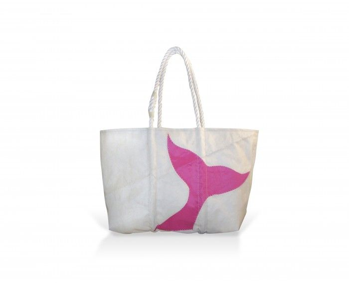 sea bags whale tail tote