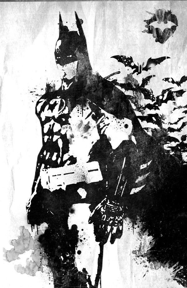 Marvel art paint by antony lottin, via Behance / Batman art (DC)
