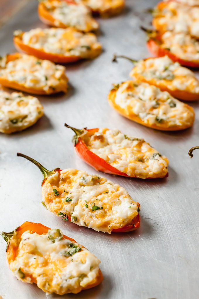 Zesty Cream Cheese Stuffed Mini Peppers Bring Out These Cream Cheese Stuffed Peppers For A Real C Sweet Pepper Recipes Stuffed Peppers Cheese Stuffed Peppers