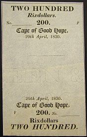SOUTH AFRICA Paper Money, 1808 - Present