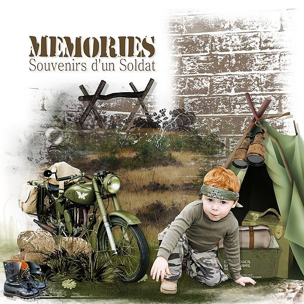 Memories of a Soldier by Kitty Scrap Photomask by Dyp Design Photo by Kitty Scrap