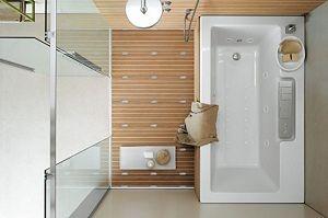 baignoire et douche accolées